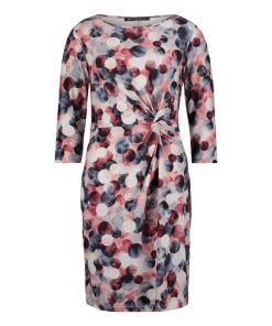 Betty Barclay Jerseykleid mit Raffung in Dark Blue-Rosé , Gepunktet , Feminin