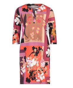Betty Barclay Jerseykleid mit Taschen in Red/Camel , Floral , Feminin