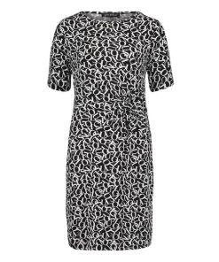 Betty Barclay Jerseykleid kurzarm in Schwarz/Weiß , Grafisch , Feminin