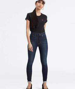 Mile High Super Skinny Jeans - Dunkle Waschung / On The Rise