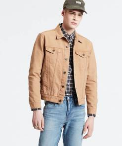 The Trucker Jacket - Braun / Desert