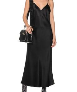 Silk Slip Dress Black