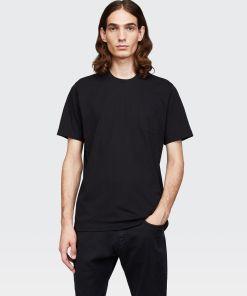 Aspesi T-shirts und Polo - T-SHIRT MIT TASCHE SCHWARZ 100% Baumwolle XS