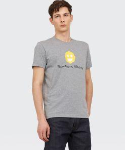 Aspesi T-shirts und Polo - T-SHIRT MIT Print Kinky Atoms Kooky. MITTELGRAU 65% Baumwolle, 35% Polyester S