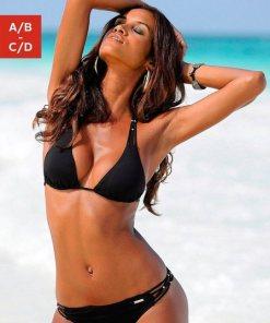 Bruno Banani Triangel-Bikini mit Zierperlen schwarz