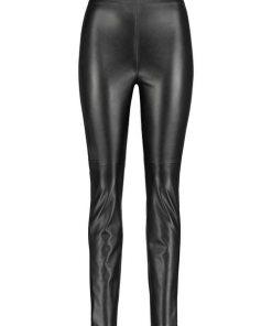 GERRY WEBER Hose Freizeit lang »Hose aus Kunstleder« schwarz