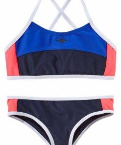 KangaROOS Bustier-Bikini im sportlichen Look blau