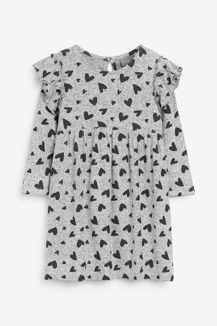 Next Bequemes Kleid mit Herzchenmuster grau