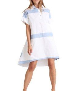 Apart Hemdblusenkleid weiß