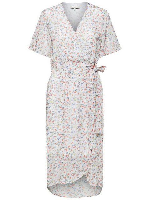 SELECTED FEMME Wickel Kleid mit kurzen Ärmeln weiß