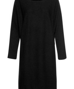 LASCANA Strickkleid mit U-Boot-Ausschnitt schwarz