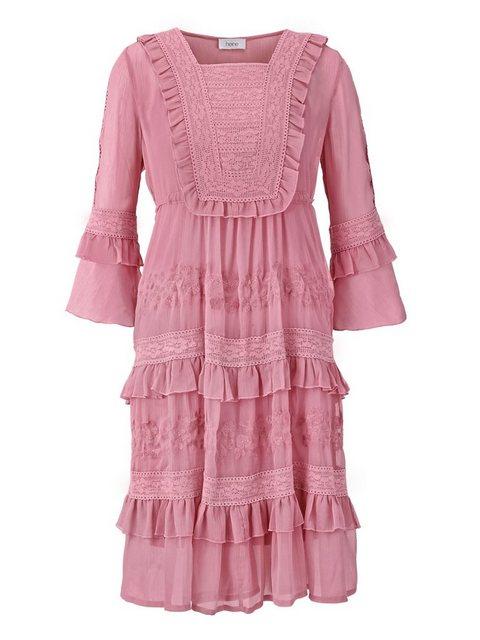 heine CASUAL Spitzenkleid mit seperatem Unterkleid rosa