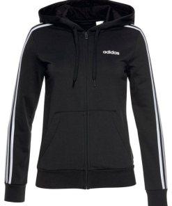 adidas Kapuzensweatjacke »ESSENTIALS 3 STRIPES FULL ZIP HOODIE« schwarz