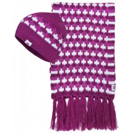 Trespass Strickschal »Damen Bunty Winter Schal und Mütze« lila