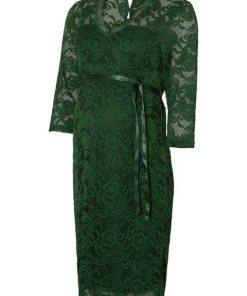 Mamalicious Spitzen- Umstandskleid grün