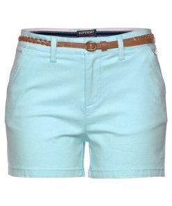 Superdry Shorts »CHINO HOT SHORT« inkl. modischem Flechtgürtel blau