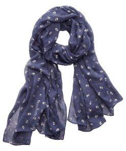 LASCANA Modeschal mit Ankern blau
