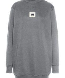 G-Star RAW Sweatkleid »Bilbi box logo funnel sw dress wmn l/s« mit Logobadge auf der Brust grau