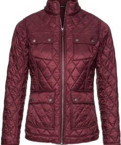 Barbour Steppjacke Filey rot