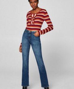 Esprit Stretch-Jeans mit Organic Cotton blau