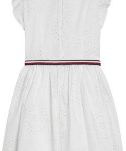 Tommy Hilfiger Kleid »CHARMING SHIFFLEY DRESS SLVLS« weiß
