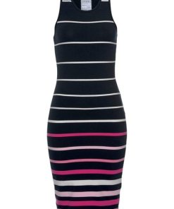 Superdry Jerseykleid »STRIPE MIDI DRESS« in modischer Streifenoptik