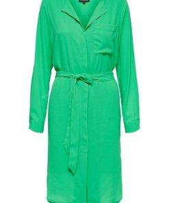 SELECTED FEMME Recyceltes Polyester Midikleid grün