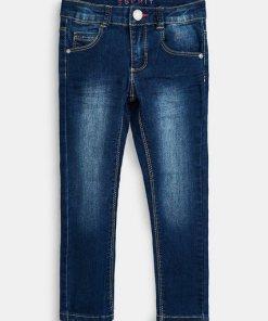 Esprit Stretch-Jeans mit Verstellbund blau