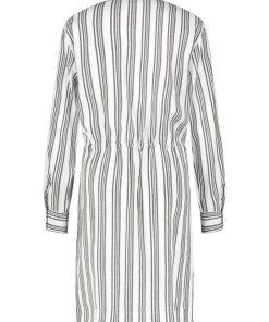 GERRY WEBER Kleid Gewebe »Blusenkleid mit Streifen« blau