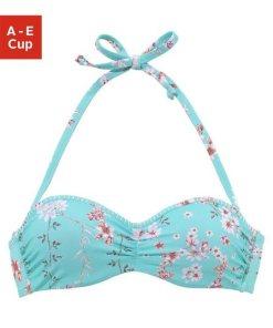 Sunseeker Bügel-Bandeau-Bikini-Top »Ditsy«  mit Häkelkante blau