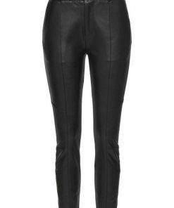 Pepe Jeans Röhrenhose »SELMA« in Lederoptik mit Bikerdetails & Zip-Ankle