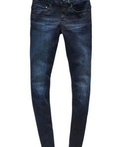 G-Star RAW 5-Pocket-Jeans »Midge Cody Mid Skinny Wmn NEW« mit Used-Effekten blau