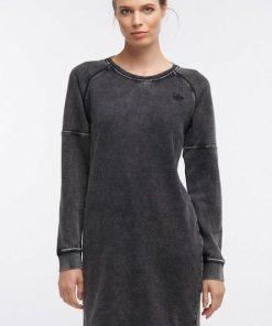 Dreimaster Sweatkleid schwarz