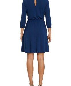 TOMMY HILFIGER Jerseykleid mit elegantem Knoten-Detail blau