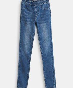 Esprit Stretch-Jeans mit Gummizugbund blau