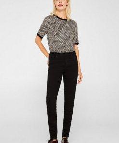 Esprit Stretch-Jeans mit Organic Cotton schwarz