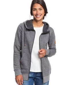 Roxy Kapuzensweatjacke »Long Way Home« schwarz