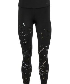 PUMA Funktionstights »Metal Splash Splatter Tight« Komfortabler  breiter Bund