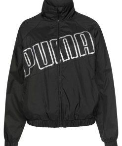 PUMA Windbreaker »Feel It Windbreaker« Einsatz mit Logoschriftzügen am Rücken