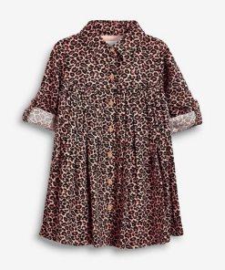 Next Hemdkleid mit Animal-Print rosa