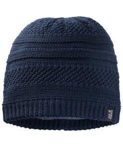 Jack Wolfskin Strickmütze »WHITE ROCK CAP WOMEN« blau