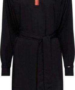 Calvin Klein Blusenkleid »LS BELTED PLACKET DRESS« mit kontrastfarbener Blende vorn