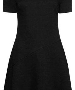 TOMMY HILFIGER Minikleid »LILLY SS DRESS« mit Schulterriegeln schwarz