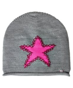 Cecil Strickmütze mit Sternenprint rosa