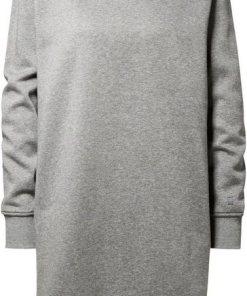 G-Star RAW Sweatkleid »Reffit Boyfriend Sweat Long Kleid« mit Rippbündchen und Seitenschlitzen grau