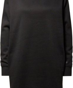 G-Star RAW Sweatkleid »Reffit Boyfriend Sweat Long Kleid« mit Rippbündchen und Seitenschlitzen schwarz