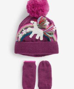 Next Mütze und Handschuhe  2-teiliges Set 2 teilig lila