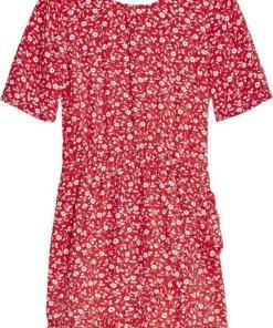 TOMMY HILFIGER Sommerkleid »FLORAL PRINT TEA DRESS« mit hübschen Rüschen am Saum
