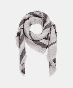 Esprit Tuch mit Streifen grau