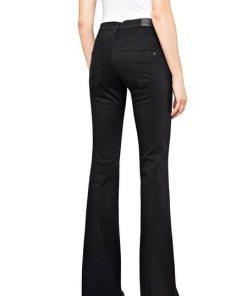 Replay Stretch-Jeans mit angesagtem Schlag schwarz